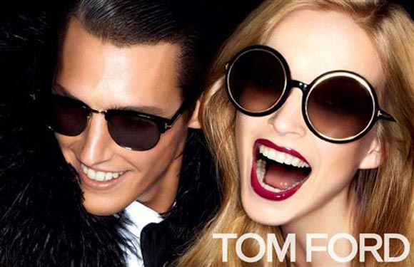Teashade sunglasses (right) from Tom Ford