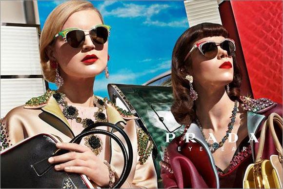 Half-frame sunglasses from Prada