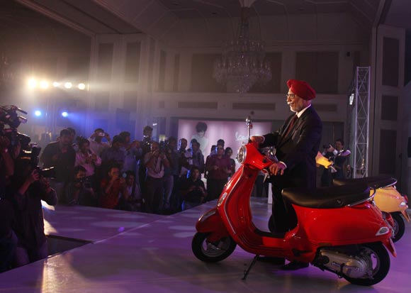 Piaggio Vehicles India Limited Chairman and Managing Director Ravi Chopra at the launch of Vespa LX 125 in Mumbai