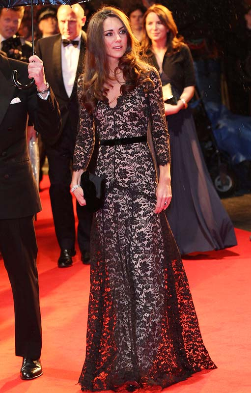 Catherine, Duchess of Cambridge attends the UK premiere of War Horse at Odeon Leicester Square on January 8, 2012 in London, England