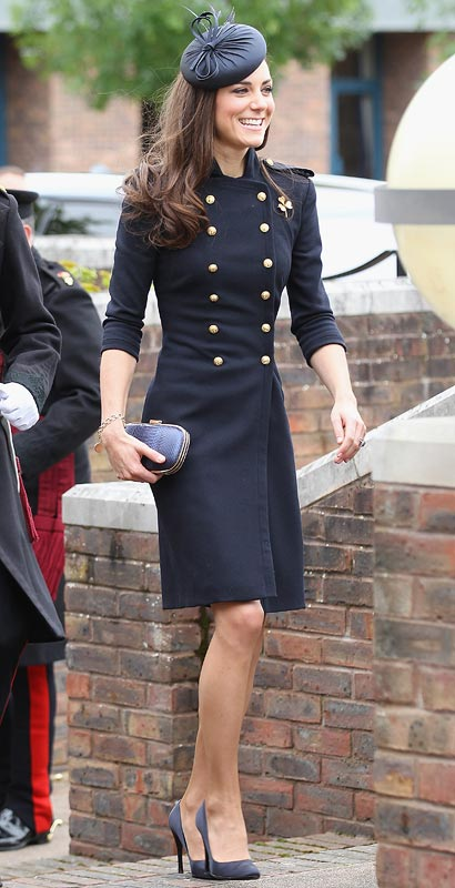 Catherine, Duchess of Cambridge arrives at the Victoria Barracks on June 25, 2011 in Windsor, England