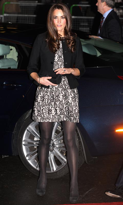 Catherine, Duchess of Cambridge arrives for a Gary Barlow concert at the Royal Albert Hall on December 6, 2011 in London, England
