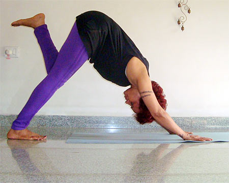 Adhomukthasvanasana (Downward facing dog pose)