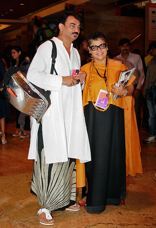 Wendell Rodricks with Anjana Sharma, Director Fashion at IMG Reliance