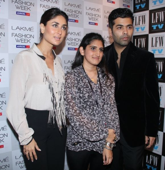 SPOTTED: Kareena, Karan Johar, Neha Dhupia at Fashion Week!