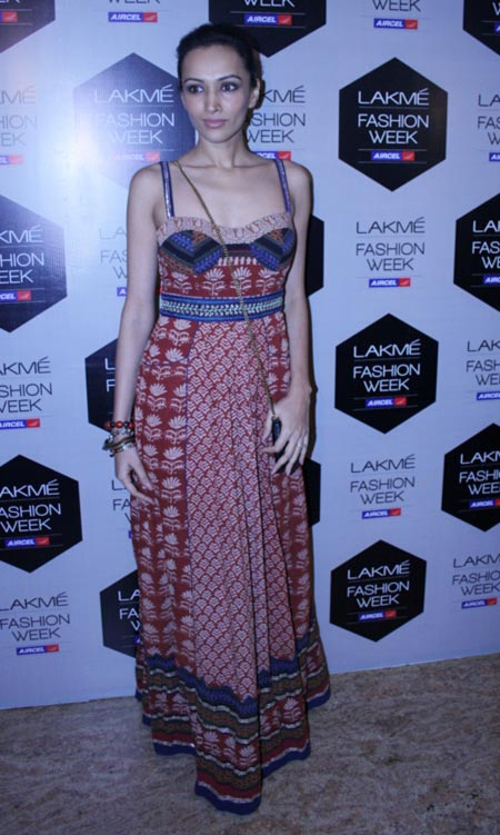 Dipannita Sharma at Lakme Fashion Week, Mumbai