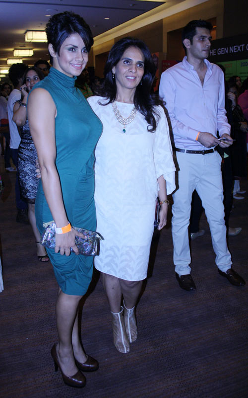 Gul Panag and Anita Dongre at Lakme Fashion Week, Mumbai