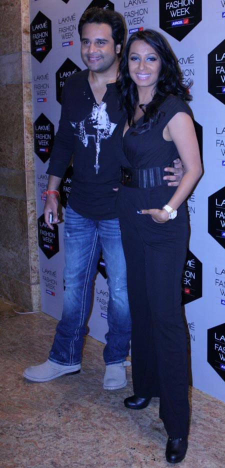 Kashmira Shah with boyfriend Krushna
