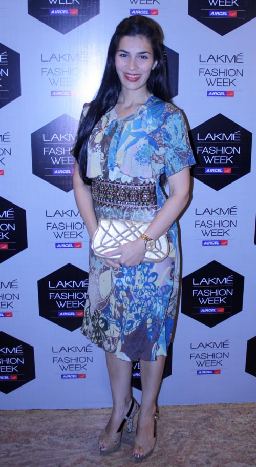 Namrata Barua at Lakme Fashion Week, Mumbai.