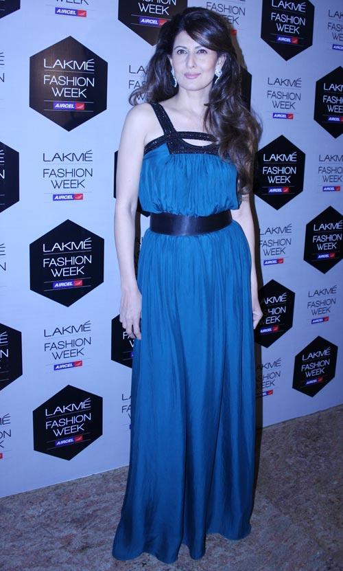 Sangeeta Bijlani at Lakme Fashion Week, Mumbai.
