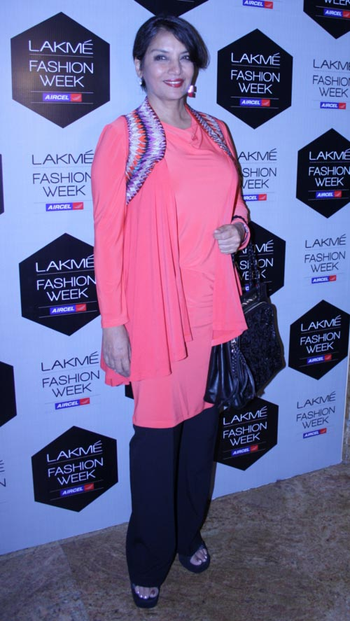 Shabana Azmi at Lakme Fashion Week, Mumbai