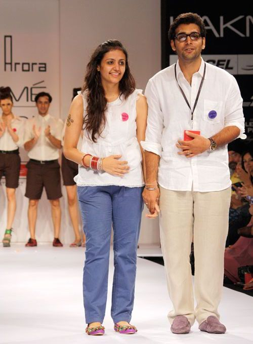 Rohan Arora (right) with an unidentified colleague