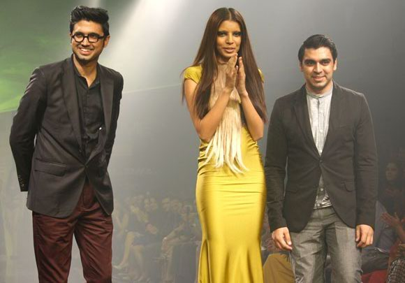 Shivan and Narresh with a model
