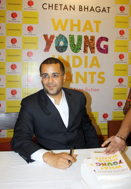 Chetan Bhagat is the bestselling author of five books