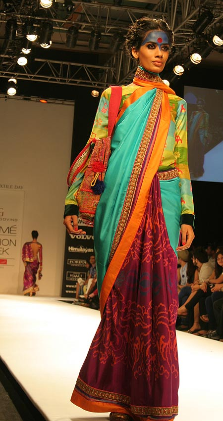 A model in a Deepika Govind creation