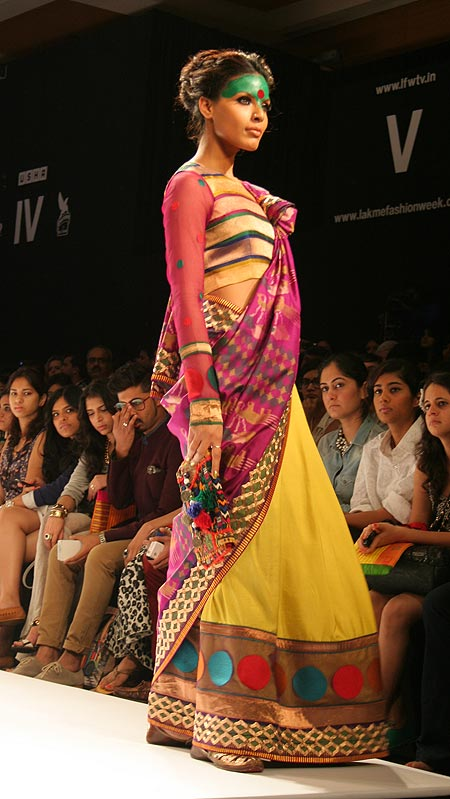 Model Deepti Gujral in a Deepika Govind creation