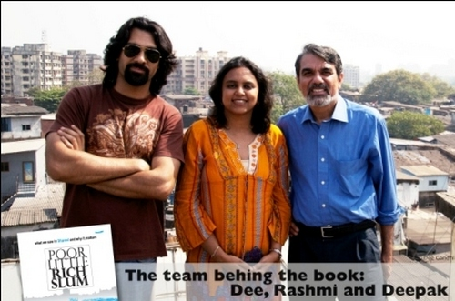 Authors Deepak Gandhi and Rashmi Bansal with photographer Dee Gandhi