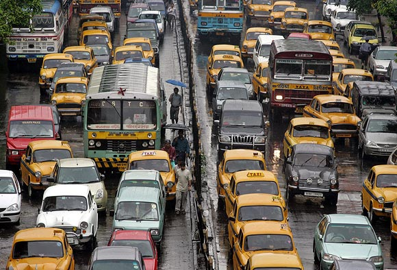 Cab drivers in Kolkata are in no mood to rush you home
