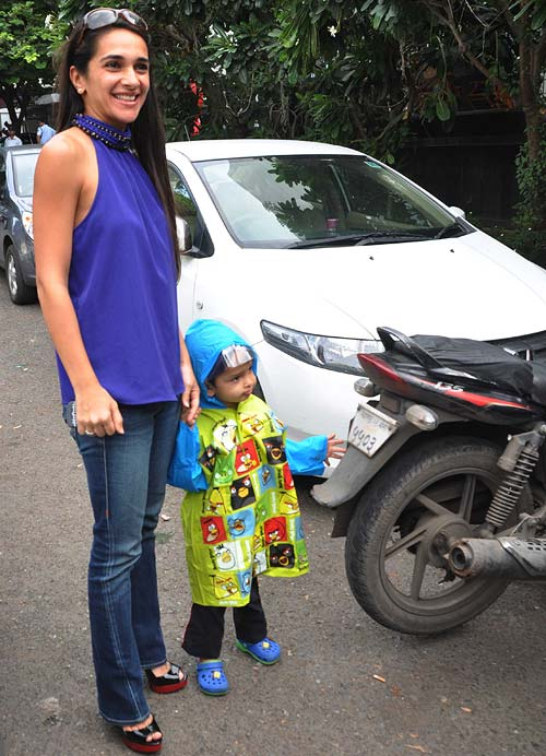 Tara Sharma with son Zen