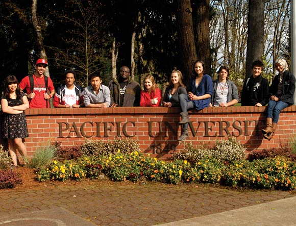 Students at Pacific University, Oregon