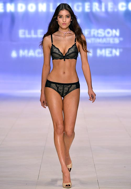 An Elle MacPherson Intimates lingerie design at the Bendon lingerie showing