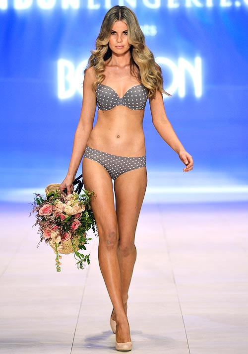 A Bendon lingerie design at the Bendon lingerie showing