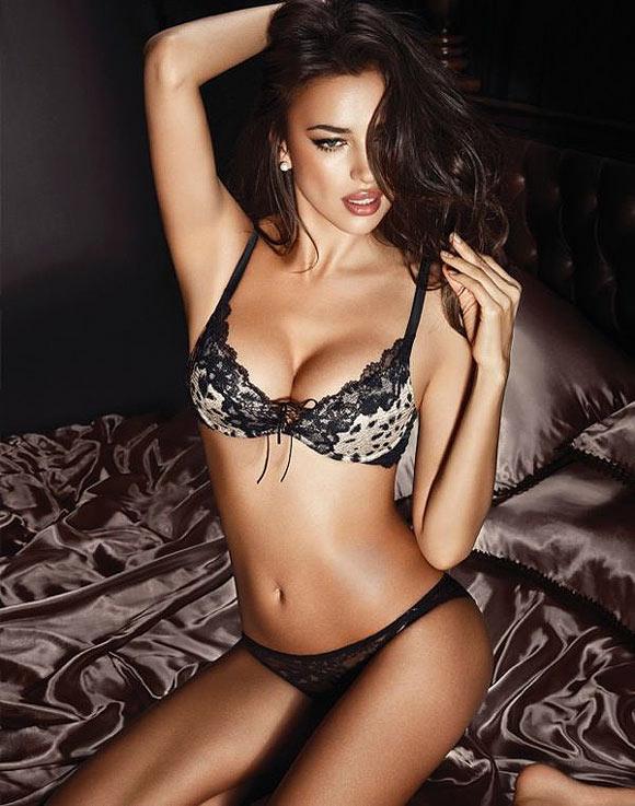 Irina Shayk for La Clover lingerie