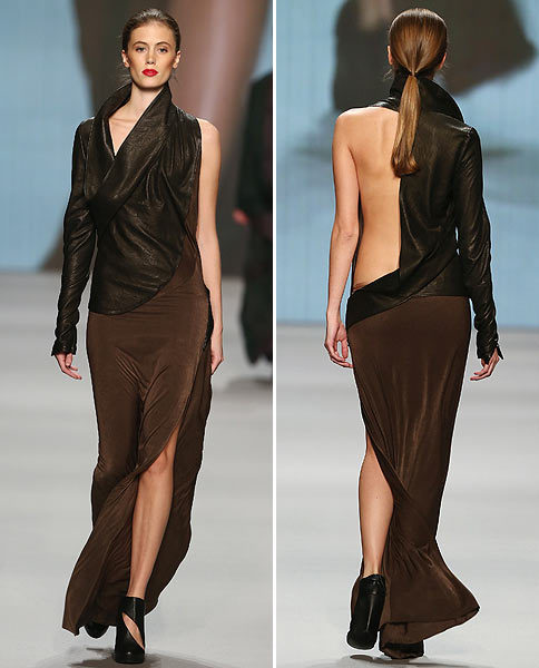 A Desiree Gabriel creation, showcased at the Mercedes-Benz Fashion Days on November 8, 2012 in Zurich, Switzerland