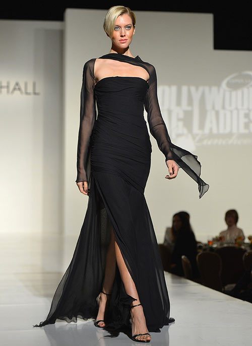A Kevan Hall creation, showcased at the Lupus LA 10th Anniversary Hollywood Bag Ladies Luncheon at Regent Beverly Wilshire Hotel on November 1, 2012 in Beverly Hills, California