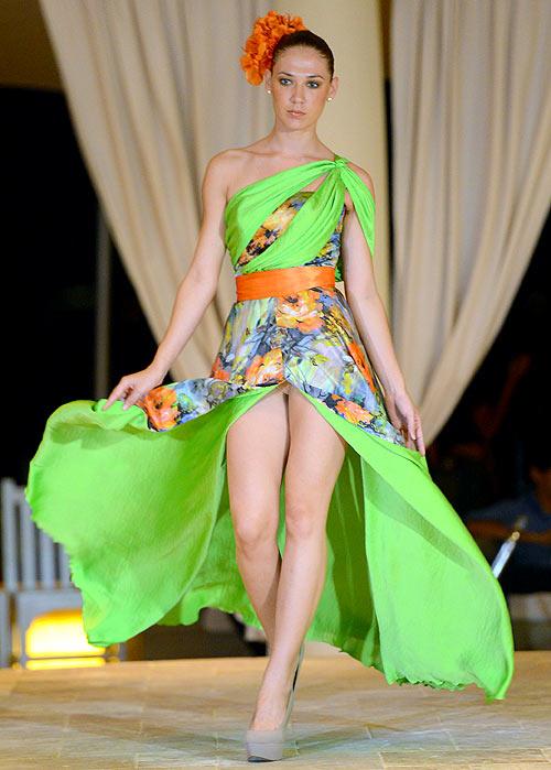 A Gigliola Designs creation, showcased at Aruba In Style 2012 on November 2, 2012 in Oranjestad, Aruba
