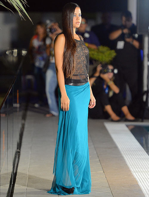 A Berjheny Perez creation, showcased at the LBD Aruba In Style Kickoff Party and Press Conference on November 1, 2012 in Oranjestad, Aruba