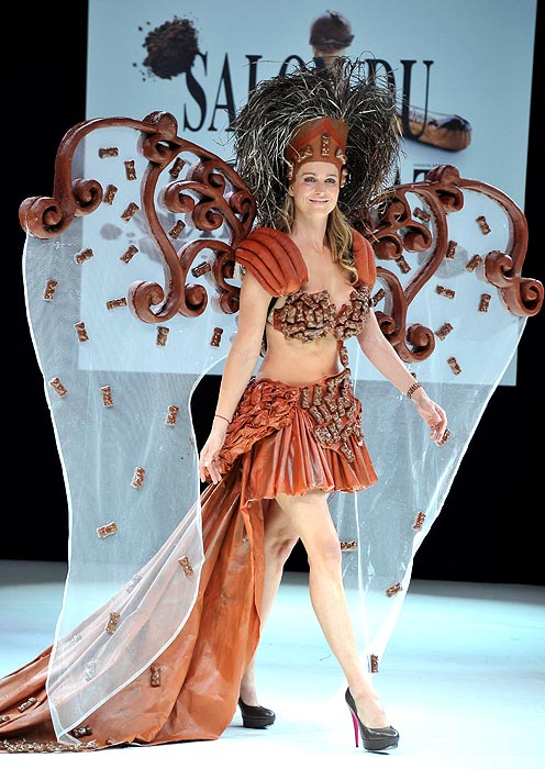A creation showcased at the 18th Salon Du Chocolat at Parc des Expositions Porte de Versailles on October 30, 2012 in Paris, France