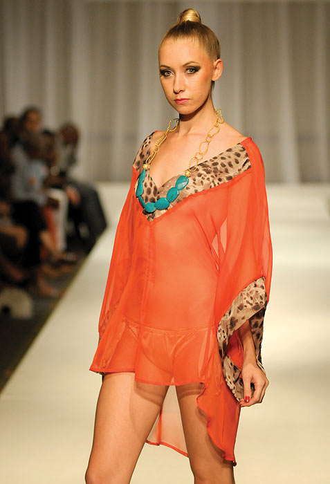 A Giovanna Menard creation, showcased at Haiti's first Fashion Week in Port-au-Prince November 9, 2012