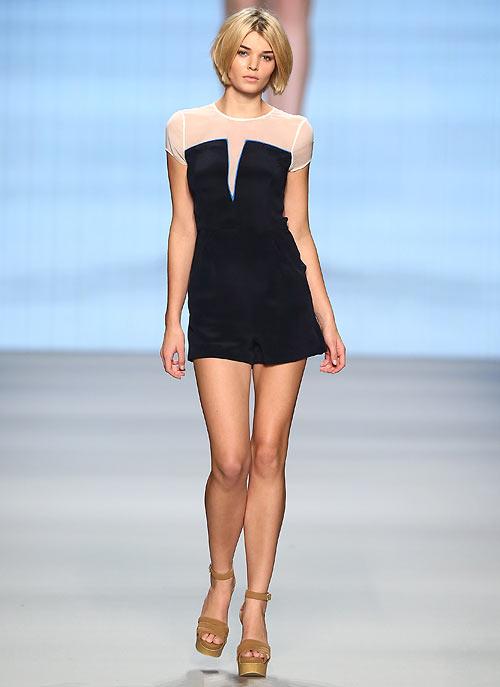A Charlotte Ronson creation showcased at the Mercedes-Benz Fashion Days on November 10, 2012 in Zurich, Switzerland