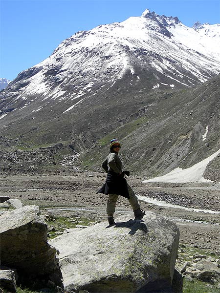Chandrima, during a trekking trip in Lahoul, Himachal Pradesh