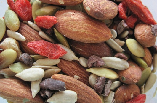Nuts and seeds provide protein and heart-healthy unsaturated fat