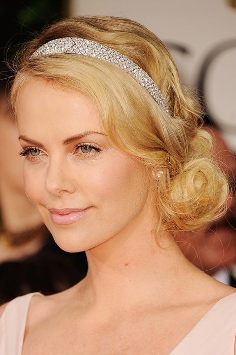 Charlize Theron is a fan of the side chignon