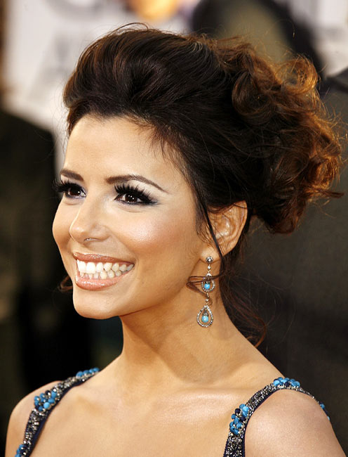 Eva Longoria's hair looks stunning in an upsweep