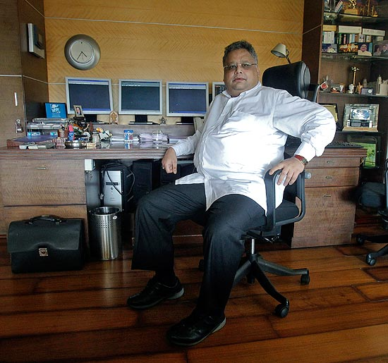 Rakesh Jhunjhunwala at his office in Mumbai