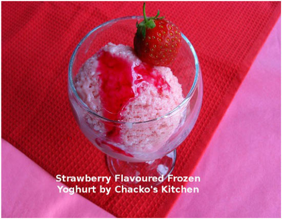 Frozen Strawberry Yoghurt Ice-cream