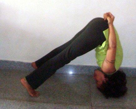 Bhumipada mastakasana (Feet and head on earth pose)