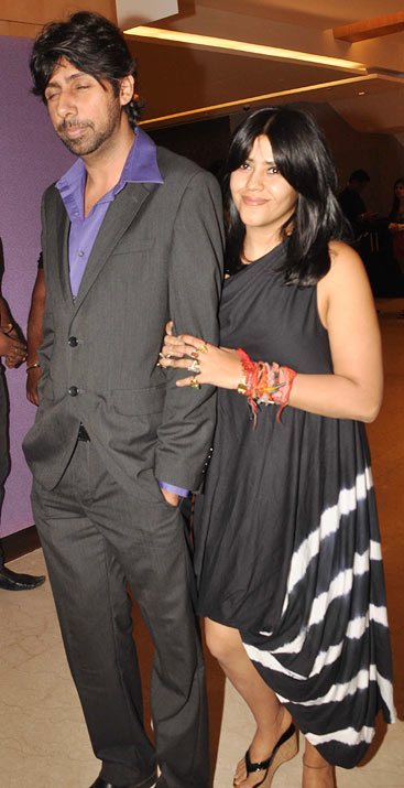 Ekta Kapoor with an unidentified friend