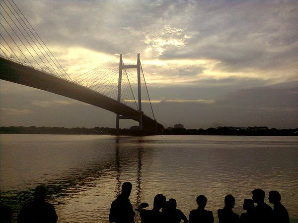 The Vidyasagar Setu over the River Hooghly, Kolkata