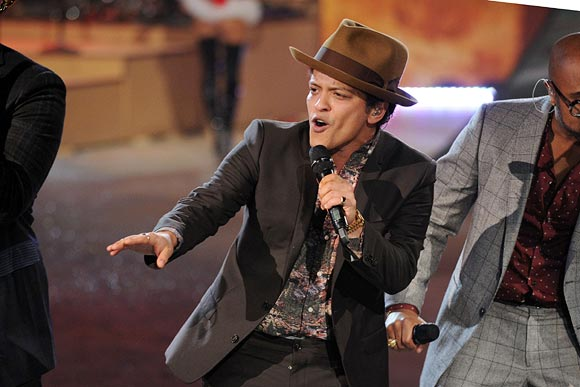 Singer Bruno Mars during the Victoria's Secret 2012 Fashion Show in New York City