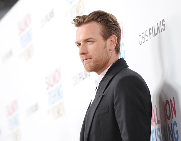 Ewan McGregor arrives at the premiere of CBS Films' Salmon Fishing In the Yemen