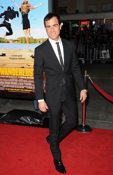 Justin Theroux at the premiere of Wanderlust at Mann Village Theatre in Westwood, California