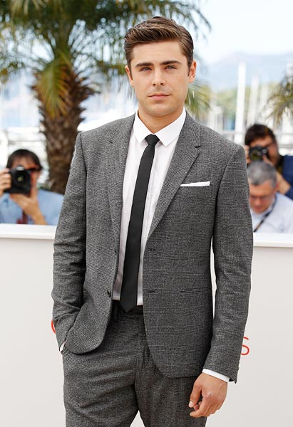 Zac Efron keeps it simple at the 65th Annual Cannes Film Festival