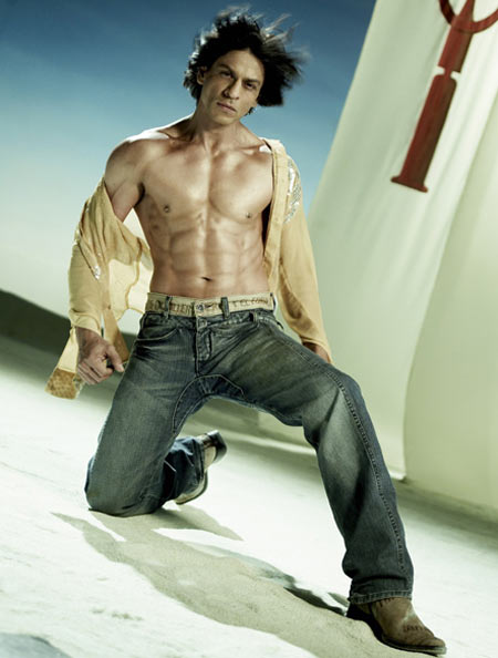 Past 40 it's very difficult to develop a six-pack, but SRK did it