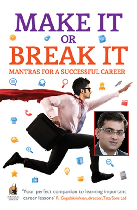 The book cover of Make It Or Break It; Inset: Partha Sarathi Basu