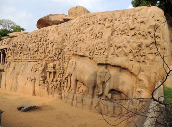 The stunning sculpture at Mamallapuram